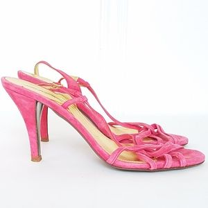 J. Crew Rory Strappy Heels in Pink